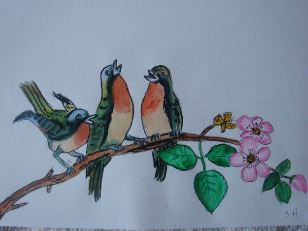 Petits Oiseaux Sur Une Branche Centerblog