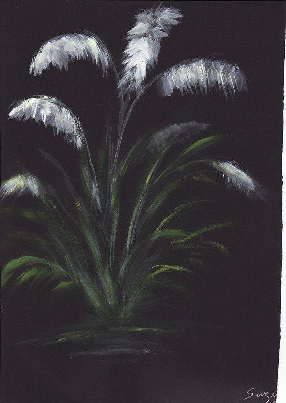 Fleur blanche sur fond noir centerblog - Dessin fond noir ...