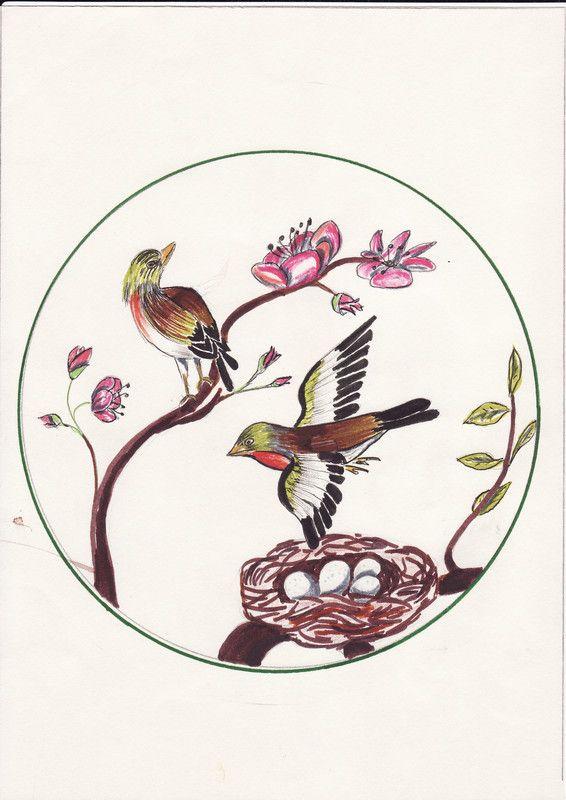 Joli dessin d 39 oiseaux - Jolie dessin a faire ...