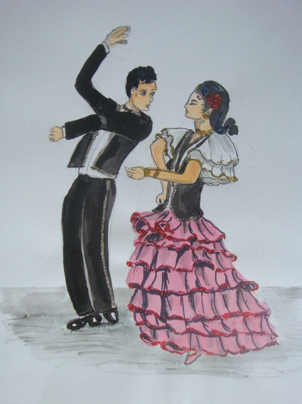 Couple de danseur espagnol