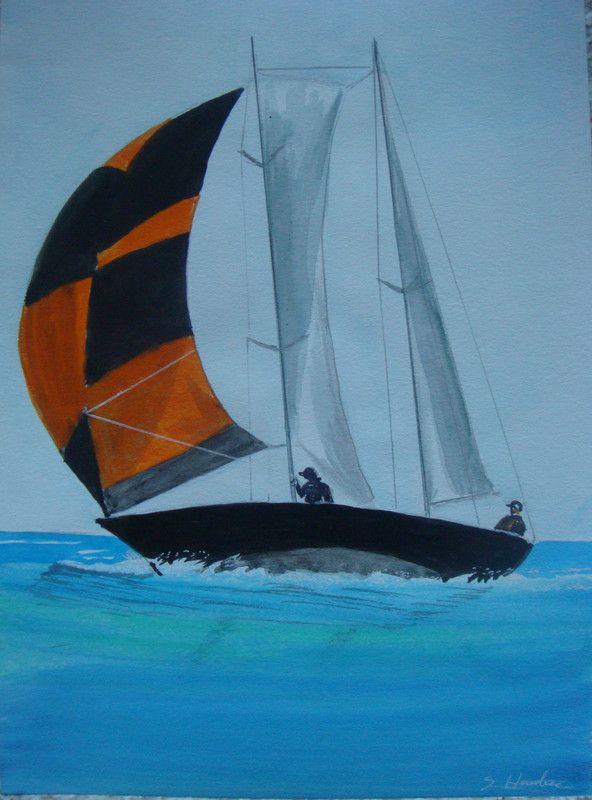 Voilier qui navigue en pleine mer centerblog - Dessins de voiliers ...