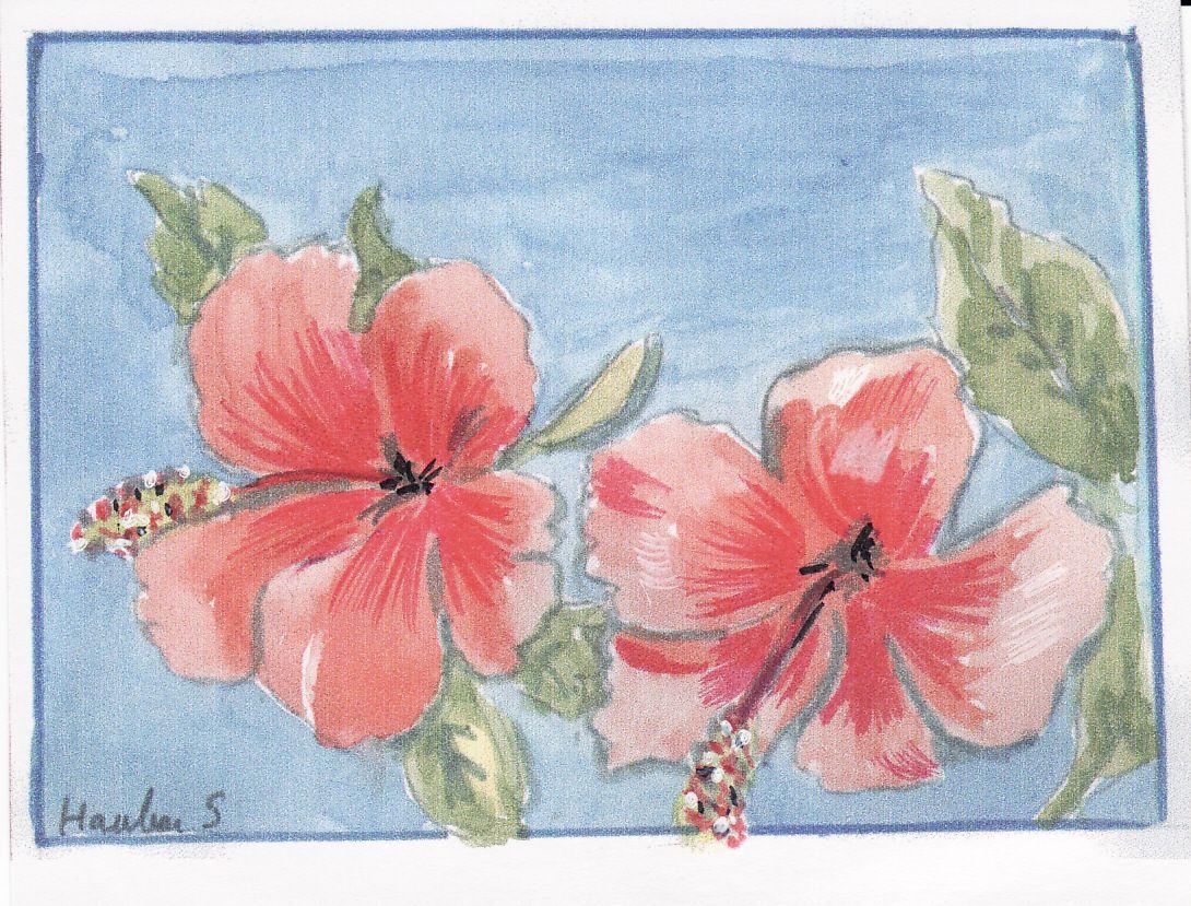 Dessin De Fleur De Tahiti