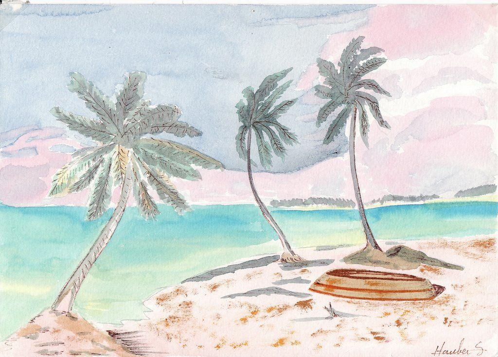 Comment dessiner une plage - Dessiner un paysage ...