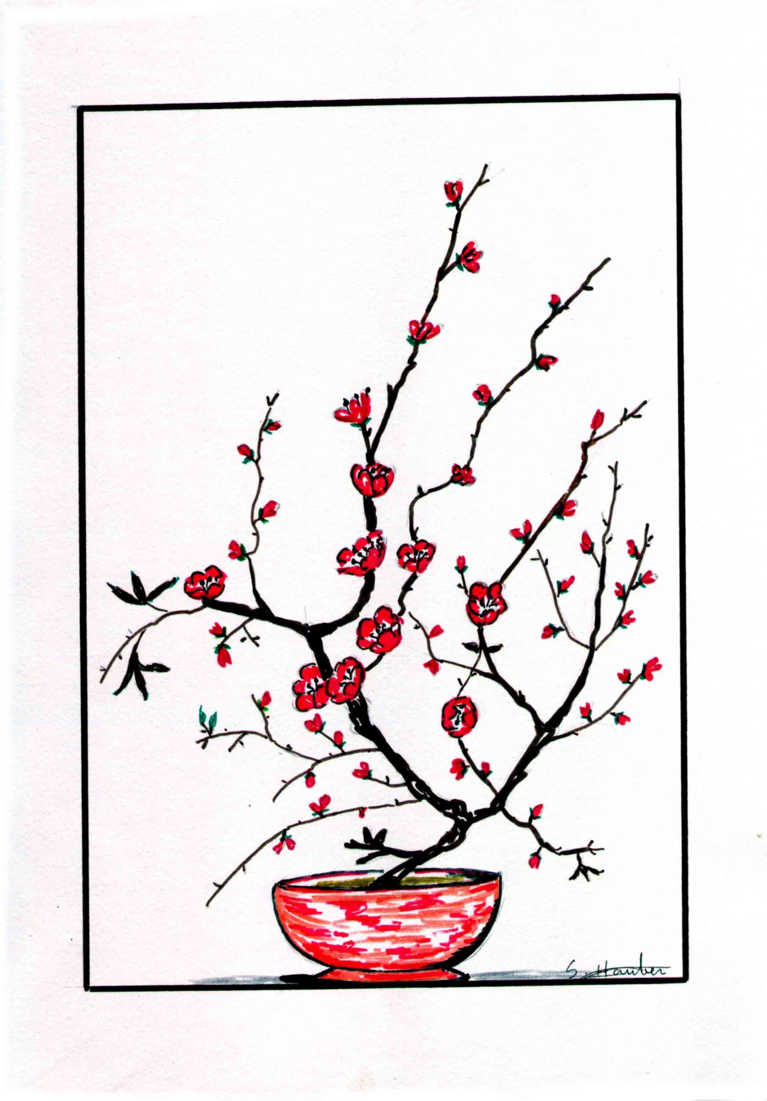 joli pot de fleur rouge. Black Bedroom Furniture Sets. Home Design Ideas